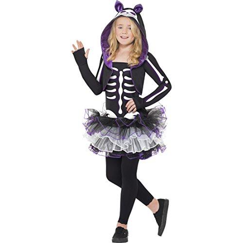 Amakando Costume Effrayant Squelette Halloween Soirée Teen M 8 - 10 Ans Déguisement de Chat Petite Fille Enfant Chaton