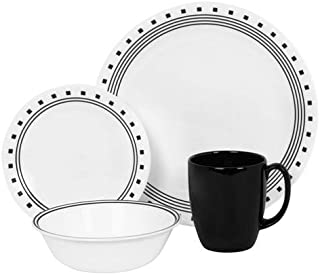 Corelle Livingware City Block 16-Piece Dinnerware Set