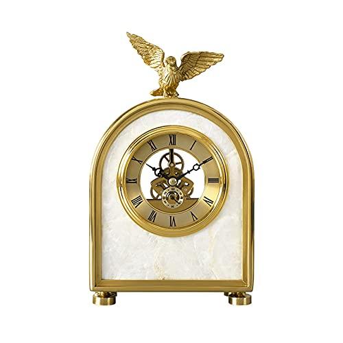 GUOQI Modern spiselklocka, dekorativ klocka, tyst urverk, skaldekoration, kopparpläteringsprocess, lämplig för vardagsrum, studierum, kontor, etc