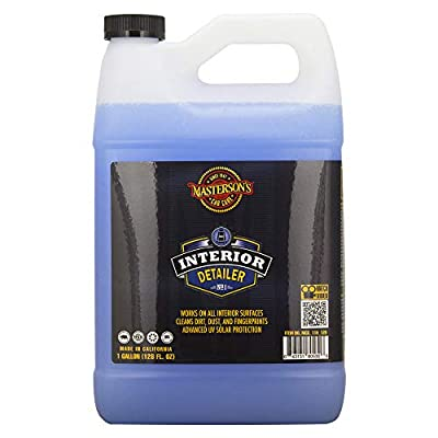 MASTERSON'S CAR CARE MCC_118_128 Interior Detailer - Clean and Protect Interior Surfaces - Works On Dashboards Door Panels and Screens - Anti Static UV Protection (1 Gallon)