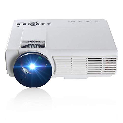 LINPAN Proyector De Cine En CasaProyector LED Multimedia De Cine En Casa con Resolución De 800 X 480Full HD
