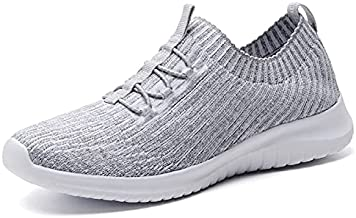 konhill Women's Comfortable Walking Shoes - Tennis Athletic Casual Slip on Sneakers 9.5 US L.Gray,41