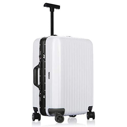 UCYG Spinner Bagage, 2019 nieuwe kleine koffer voor mannen en vrouwen, universeel wiel, lichte reiskoffer, trolleytas, wachtwoordslot, chassis, wit aluminium frame