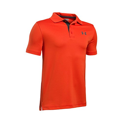 Under Armour Kids Boy's Performance Polo (Big Kids) Dark Orange/Rhino Gray Shirt