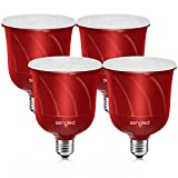 Sengled Pulse Bluetooth Light Bulb JBL Speaker System App Controlled Dimmable LED Bulb Requires Master Pair Add Up to 8 Bulbs BR30 Smart Music Satellite Bulb, Pewter, 4 Pack