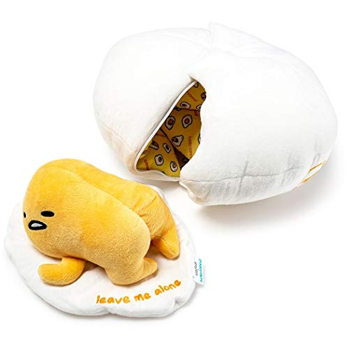 Gudetama Lazy Egg: 18cm Sanrio x Kidrobot Plush & 1 Trading Card Bundle (TTLCG301)