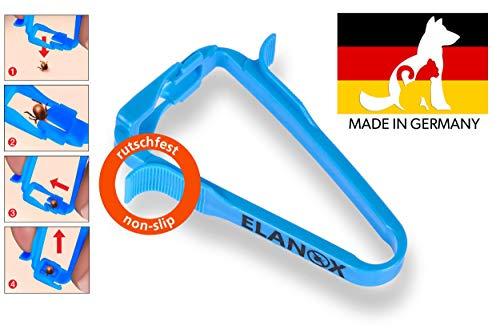 ELANOX Zeckenzange mit Anhebefunktion für Hunde Katzen und Menschen Zeckenentferner Zeckenpinzette