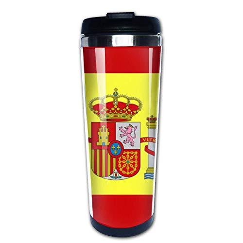 Taza de café de viaje Bandera de España Taza de café con aislamiento de acero inoxidable Botella de agua deportiva 13.5 oz (400 ml) MUG-3212