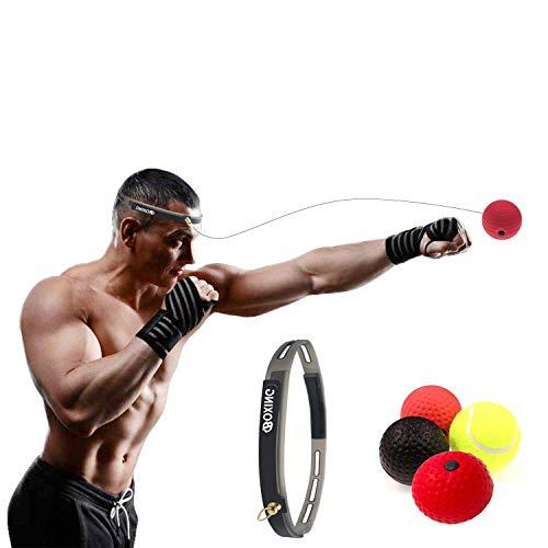 X-LIVE Box Training,Boxen Sport punchingball reflexball Speedball Boxen, 3 Arten Reflex Kampf Ball + Stirnband - (Reaktionsgeschwindigkeit Erhöhen/Dekompression) -4 Box Balls