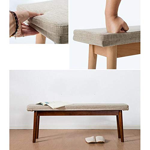 Best Review Of QNN Modern Furniture Solid Wood Bench Long Bench Stool Creative Casual Stool 115 28 4...