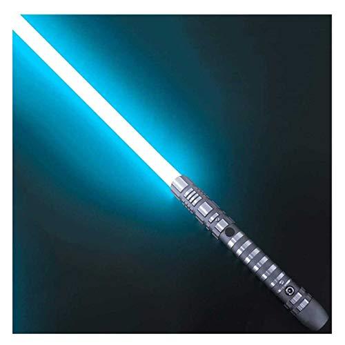 sookin Laserschwert mit Metallgriff Einstellbares Requisitenschwert Mehrfarbig leuchtendem Schwert Mit Soundeffekten Spielzeug-Lichtschwerter Geschenk FüR Kinder Und Erwachsene C