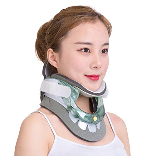 WANGXNCase Collarín De Tracción Cervical, Cuello De Estiramiento De Cuello Soporte De Cuello Ajustable Soporte Cervical De Forma Alivio del Dolor De Cuello De Las Vértebras