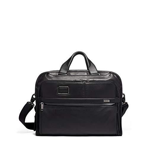 TUMI – Alpha 3 Organizer Portfolio Tasche Brieftasche – Leder Aktentasche für Damen und Herren – Schwarz