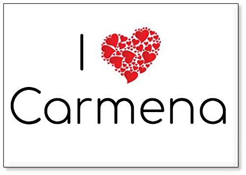 Mundus Souvenirs - Amo Carmena, Imán para Nevera (diseño 1)