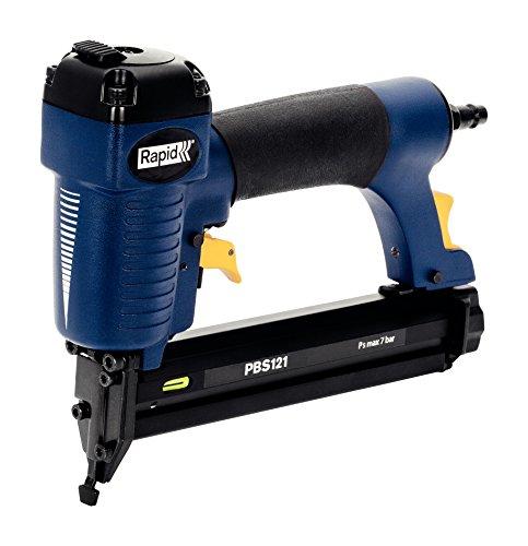 Rapid Druckluftnagler und -Tacker PBS121 für dickeres Holz, für Klammern Typ 606, 12-30mm und Nägel Typ 8, 15-30mm