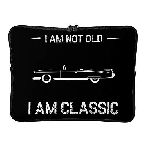 Standard I Am Not Old I Am Classic - Bolsas de ordenador portátil con tema ligero para tableta, White (Blanco) - Annlotte-dnb
