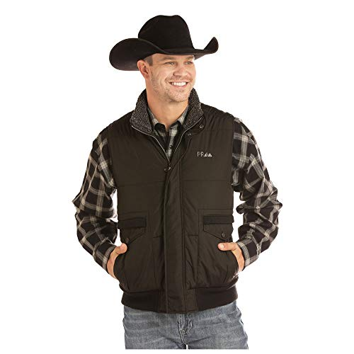 Powder River Outfitters Men's Solid Concealed Carry Vest Black Large