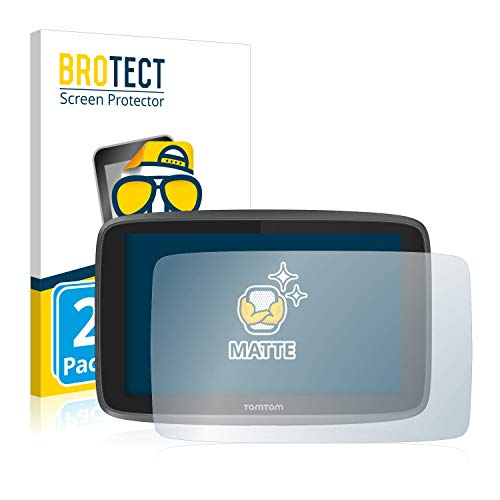 BROTECT 2X Entspiegelungs-Schutzfolie kompatibel mit Tomtom Go 6200 Bildschirmschutz-Folie Matt, Anti-Reflex, Anti-Fingerprint