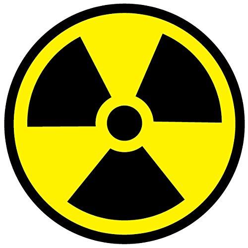 Radiactivos símbolo vinilo autoadhesivo pegatinas de advertencia de radiación seguridad
