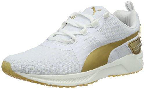Puma Ignite Xt V2 Gold Wns Scarpa da Running, Bianco (Weiß (puma WHITE-GOLD 01)), 7