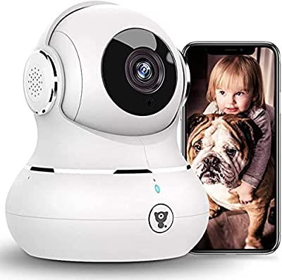 [2021 New] 1080P Baby Camera Monitor, Littlelf Pan/Tilt Security Camera Pet Camera with Motion Detection, Smart Night Vision, Two-Way Audio, Dog Camera with Phone App, Cloud Service
