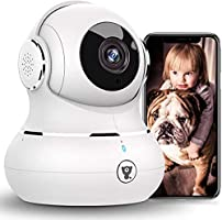 [2021New] WiFi Camera Indoor, Littlelf 1080P Dog Camera, Home Security Camera with Night Vision, Motion Detection, 2-Way...