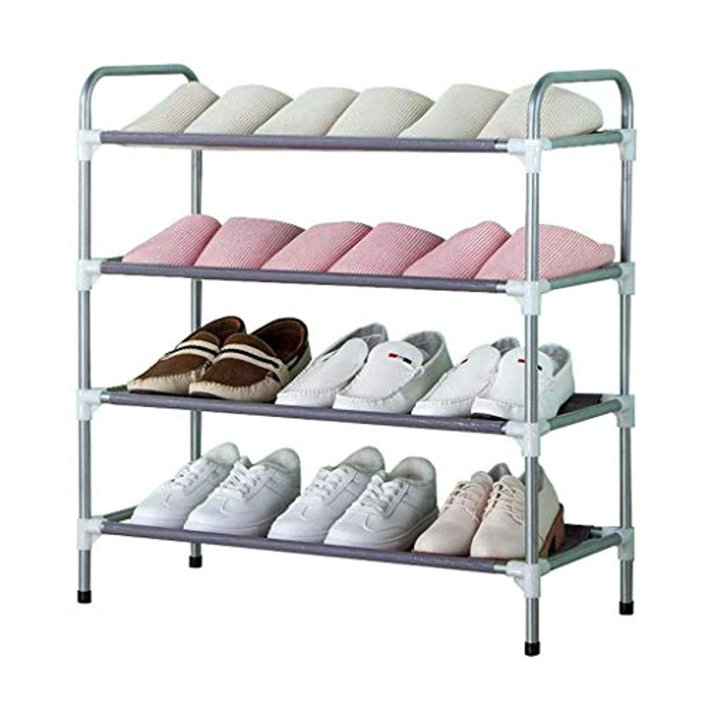 4-Layer Shoe Rack, Dust-Proof Simple Storage Rack Corridor Entrance Saves Space 68×30×105cm