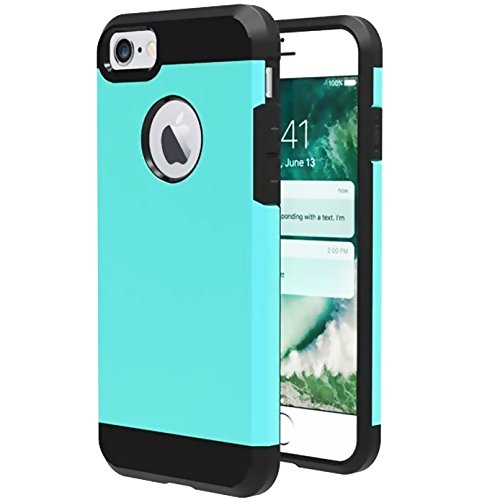 iBarbe Slim Extreme Heavy Duty Case for iPhone 7 /8,Rugged Hybrid Impact Shockproof Soft Case Rugged Hard PC Anti-slip Cover Armor Resilient Shock Absorption Protection for iPhone 7/8 4.7 inch phone