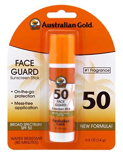 Australian Gold Spf#50 Face Guard Stick 0.6 Ounce (17ml) (3 Pack)