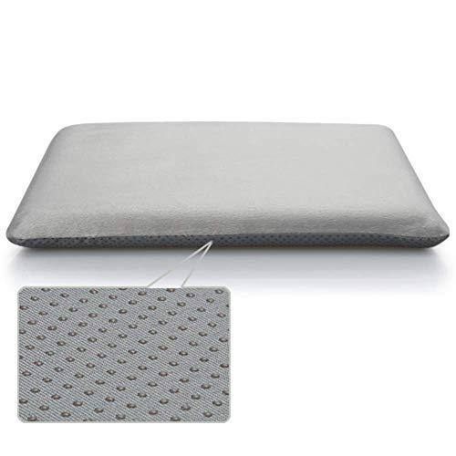 Aocean WJX & Likerr - Cojín de espuma viscoelástica para asiento de coche, asiento de oficina, chair o sillón, 45 x 45 cm, color plateado