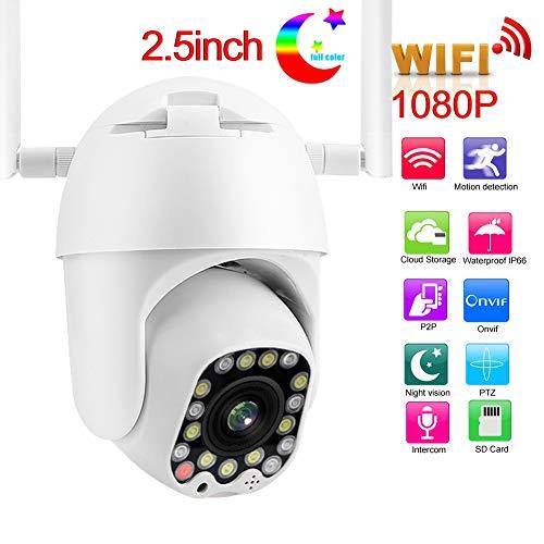 Sicherheitskuppelkamera, 2,5 Zoll 17LED WIFI IP-Kuppelkamera Dual Light PTZ 1080P Überwachungskamera für Sicherheitsmonitore für O-NVIF(EU)