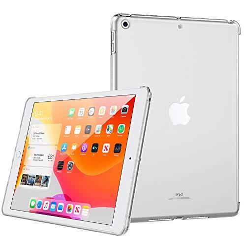 MoKo beschermhoes voor Apple iPad 7. gen. 10.2 2019 (10,2 inch / 25,9 cm) 2019 (compatibel met het officiële toetsenbord), transparant thermoplastisch polyurethaan (TPU), kristalhelder