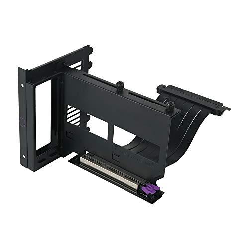 Cooler Master Kit Supporto GPU Verticale Universale V2, per Chassis ATX e Dispositivi PCI-E 3.0, Supporto Scheda Video Modulare, Cavo Riser 165mm V2, Staffa Spessa in Acciaio SGCC per Robustezza, Nero