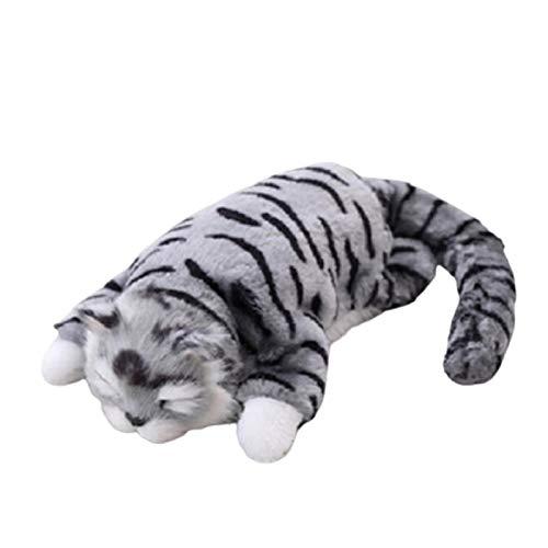 siqiwl Rolling Cat Tumbling Cat Simulación de Risa girando sobre Gato muñeca eléctrica Felpa...