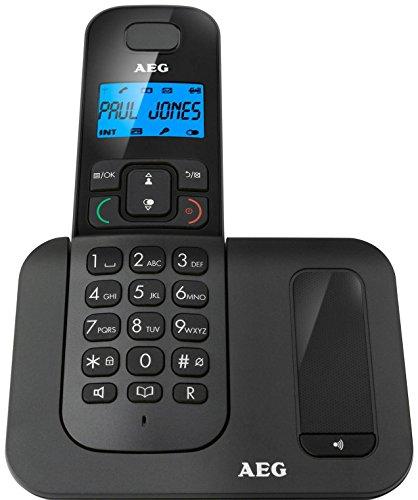 AEG Voxtel D500 Telefono Domestici DECT Cordless, Nero