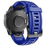 ANBEST Pulsera de Silicona Compatible con Fenix 6S/Fenix 6S Pro/Fenix 5S Correa, 20mm de Repuesto Deportiva Liberación Rápida Banda para Fenix 5S Plus/D2 Delta S Smart Watch, Azul Real