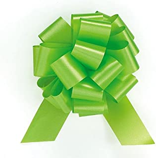 PMU Pull String Bows 5 Inch Lime Green Pkg/10
