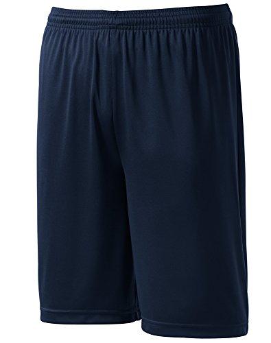 Joe's USA Youth Moisture Wicking Basketball Shorts-M-Navy