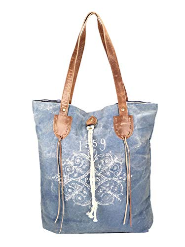collezione alessandro Schultertasche Rio aus Jeans in leichter Used-Optik 40cm x 38cm x 9cm