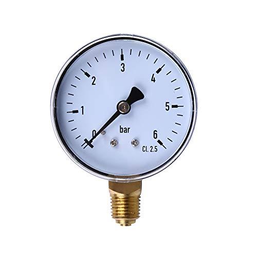CenYC Manómetros de Aire, manómetros, dial para medir la presión del Aire, la presión del Agua, la presión del Combustible y Cualquier Elemento Que no corroa el latón