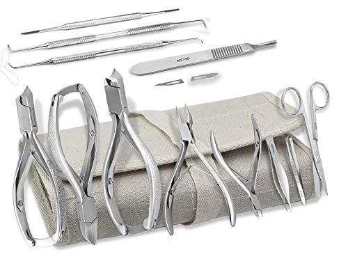 Fußpflege-Instrumente Set 23-Teilig inklusive 5 Nagelzangen