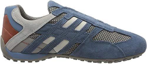 Geox Uomo Snake F, Zapatillas para Hombre, Azul (Avio/Lt Grey C4453), 41 EU