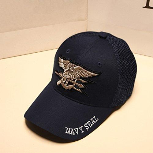 PLL Originalität-Baseballmütze-Sommer-Visier-Hut Einfacher Stickerei-Muster-Normallack-Hut (Color : B)