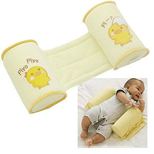 Almohada antivuelco para bebés infantiles Almohadas para bebés recién nacidos posicionales de cabeza plana para dormir de algodón seguro para niños pequeños ⭐