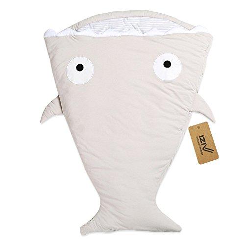 iziv Bambino sacco a pelo cotone copertina a fasciare il sacchetto pelo Mignon squalo epais per neonati 0–3anni multicolore Couleur-3 0-3 ans