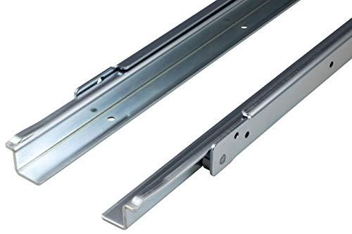 Gedotec Schubkastenauszug Schwerlast Rollenführung Teilauszug 600 mm Schubladen-Schiene aufliegende Montage | FR206 | Tragkraft 100 kg | Stahl verzinkt | 1 Paar - Auszüge für Küchenschränke