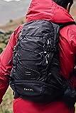 Mountain Warehouse 20L Backpack-Packaway Raincover Bag for Men, Women Black