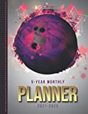 5-Year Monthly Planner 2021-2025: Dated 8.5x11 Calendar Book With Whole Month on Two Pages / Purple Pink Gray Bowling Ball - Sports Art / Organizer ... - Charts / 60-Month Life Journal Diary Gift