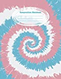 Composition Notebook: Wide Ruled Blank Lined Paper Notebook - LGBTQ Transgender Rainbow Pride Flag Colors Tie Dye Swirl (CNW 7.44' x 9.69'  110pages)