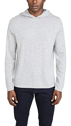 Vince Men's Long Sleeve Pullover Cashmere Hoodie, Heather Grey, XX-Large